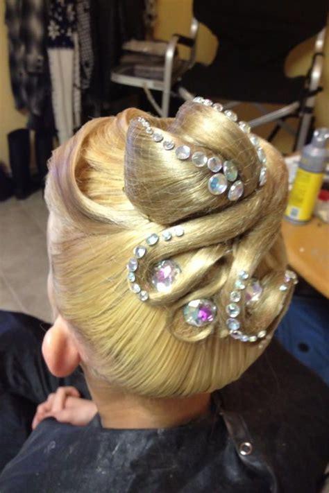 images  ballroom hair  pinterest updo