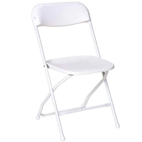 am pfc white poly folding chair the furniture family