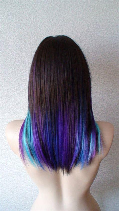 Galaxy Ombre Wig Black Pink Purple Blue Ombre Wig
