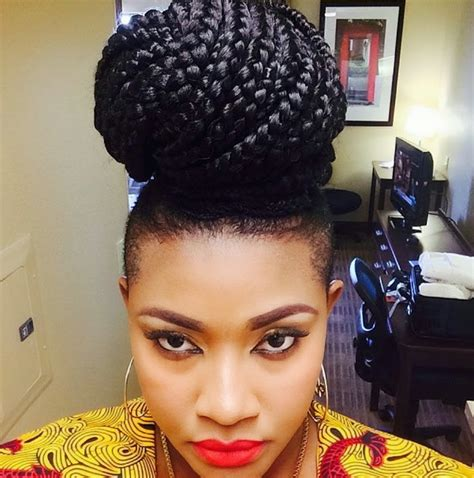 nigerian actress  hairstyles  natural