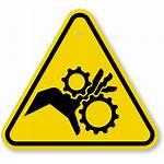 Warning Hazard Signs Sign Crush Symbol Caution