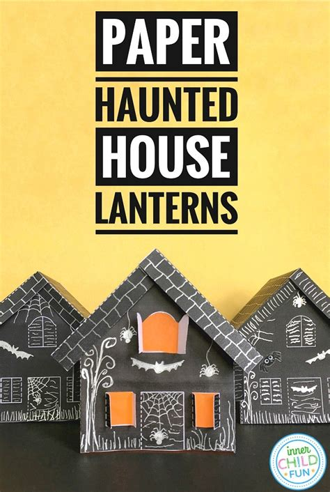 paper haunted house lanterns  halloween  child fun