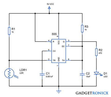 Light Activated Switch Circuit Using Ldr