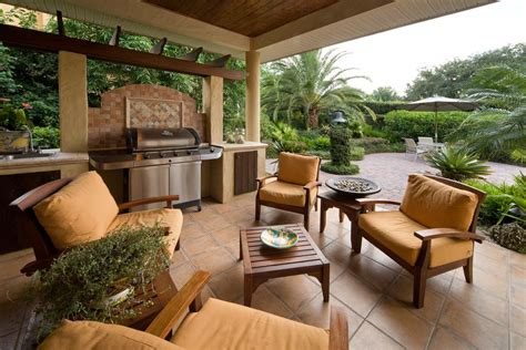 bbq decorating ideas patio contemporary with wood cooker
