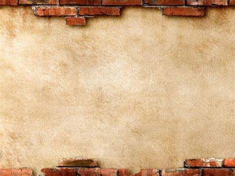 broken brick wall powerpoint background picture pptcom