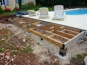 Tour De Piscine Bois : faire une terrasse sur plot 9 plage de piscine le tour ~ Premium-room.com Idées de Décoration