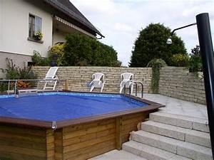 piscine semi enterree bernard halbwachs photo n61 With superb terrasse piscine semi enterree 1 les piscines en bois en photo