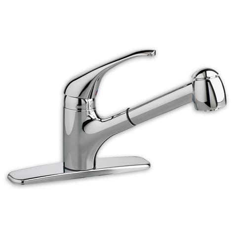 pull out kitchen faucets nickel pullout spray kitchen faucet contemporary moen
