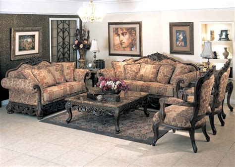 Formal Living Room Sets For Sale by Newport Baroque Style Fabric Formal Living Room Furniture Set