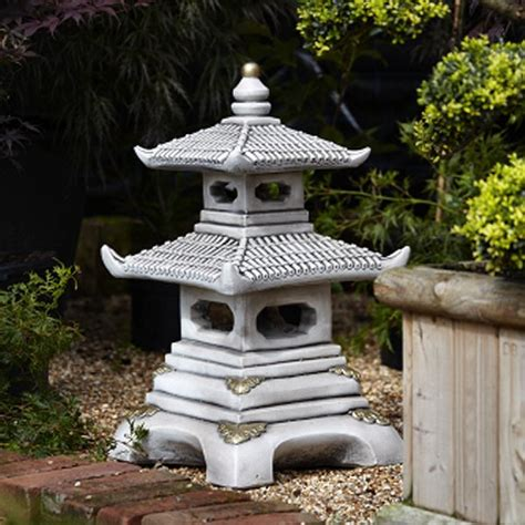 japanese garden statues two tier japanese pagoda statues
