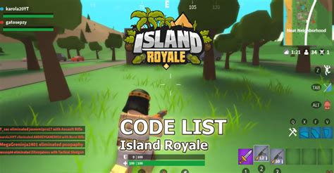 island royale codes  codes updated january