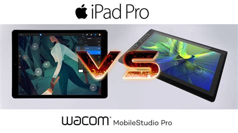 "2017 129"" Ipad Pro + Procreate Vs Wacom Mobilestudiopro + Photoshop Review & Comparision Youtube"