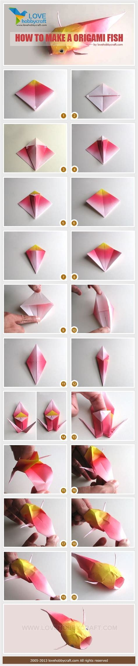 How Make Origami Fish From Paper Diy Arts Crafts