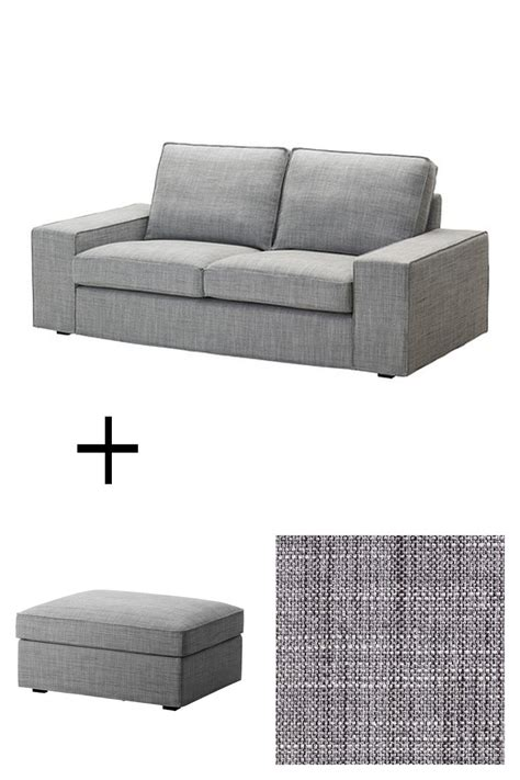Kivik Sofa Cover Isunda Gray by Ikea Kivik 2 Seat Sofa And Footstool Slipcovers Loveseat