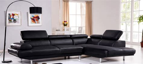 canape angle cuir noir canapé d 39 angle en cuir noir à prix incroyable