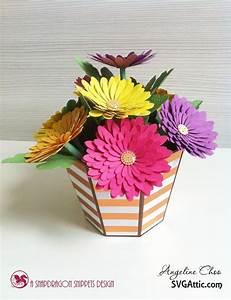 A bucket full of flowers paper art pinterest emboss for Bucket of flowers papercrafting