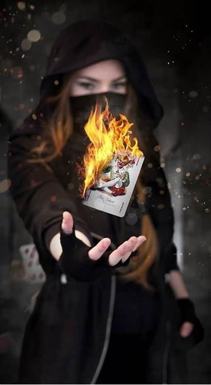 Wallpapers Amazing Mobile Smoking Joker Burning Playing