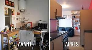 renover sa cuisine avant apres dootdadoocom idees de With renovation cuisine bois avant apres