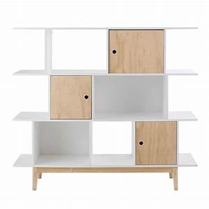 Bücherregal Weiß Holz : b cherregal aus holz wei l 145 cm happy maisons du monde ~ Indierocktalk.com Haus und Dekorationen