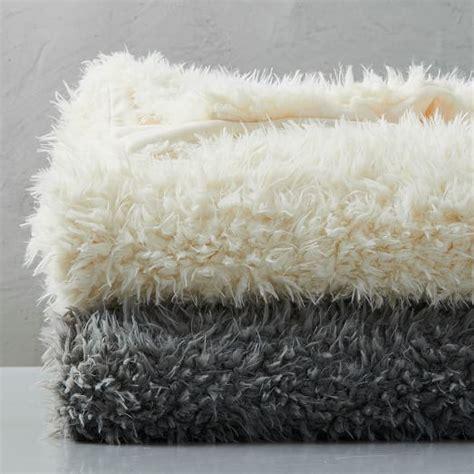 faux fur sheepskin throw west elm