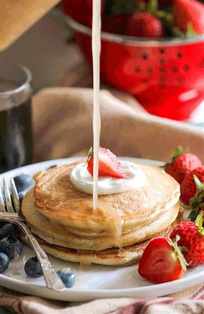 Syrup Maple Healthy Sugar Pancakes Homemade Corn