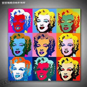 Marilyn monroe a6471 rq decorative andy warhol painting-in ...