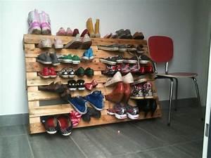 Dressing En Palette : rangement chaussures en palette my house my diy pinterest ~ Melissatoandfro.com Idées de Décoration
