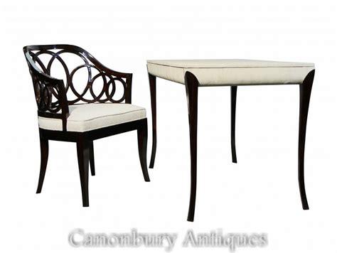 ensemble de bureau ensemble de chaises de bureau régence laqué blanc