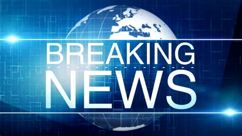 Breaking News Tv Screen Background Stock Footage Video ...