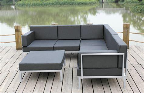 china casual selectional metal sofa set aluminum outdoor