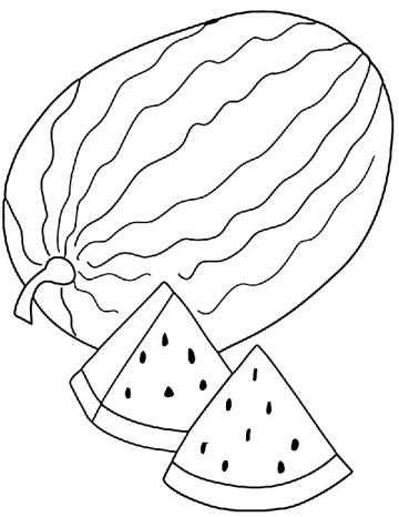 watermelon coloring pages  printable coloring pages