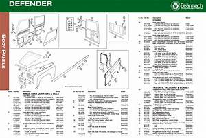 Land Rover Defender Body  U0026 Exterior Parts Exploded View