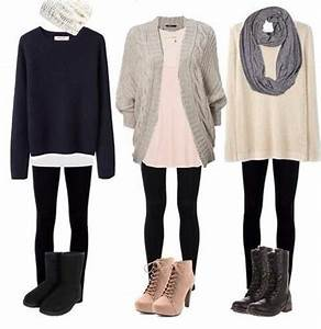 Boots cardigan cute fall leggings outfit scarf shirt sweater winter jcpenney contest ...