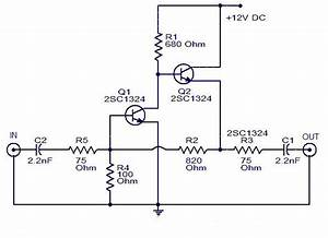 Schematic  U0026 Wiring Diagram  Cable Tv Amplifier Using 2