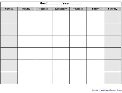 blank calendar template calendar template word tryprodermagenix org