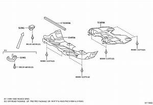 Toyota Tacoma Radiator Support Splash Shield  Cover