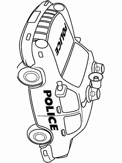 Police Coloring Pages Cop Printable Transportation Template