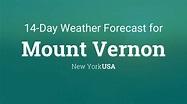 Mount Vernon, New York, USA 14 day weather forecast