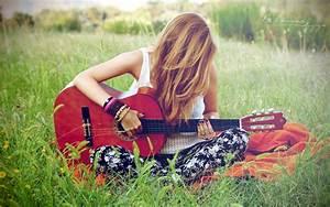 Wallpaper Girl And Guitar