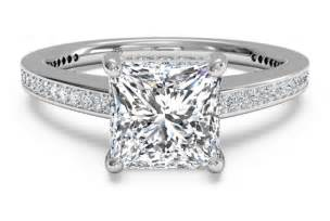 split wedding band princess cut engagement rings a cut worth considering ipunya