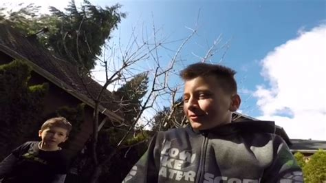 He Ate It!- Jumping On The Tramp With My Nephew