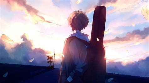 Anime Boy Guitar Painting