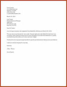 Chef Cover Letter Informal Two Weeks Notice Letter