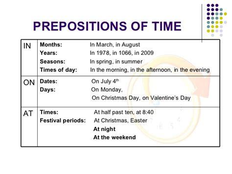 prepositions  time  english english  docs