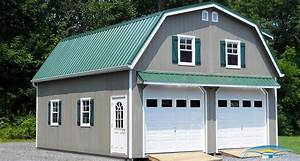 2 story prefab garage prefabricated garage horizon With 2 story metal garage