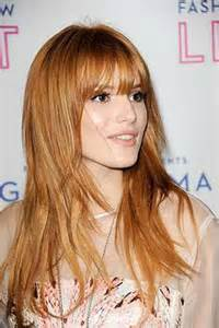 Long Strawberry Blonde Hair with Bangs