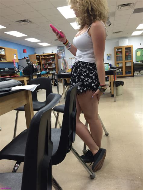 teen with big tits in class creepshot pictures collection