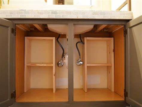under cabinet shelving bathroom a step by step guide for creating storage under the sink