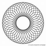 Circle Coloring Circles Pages Center Spiral Clipart Inside Overlapping Geometric Pattern Etc 3d Circular Tessellations Larger Trevor Locke Clip Mandala sketch template