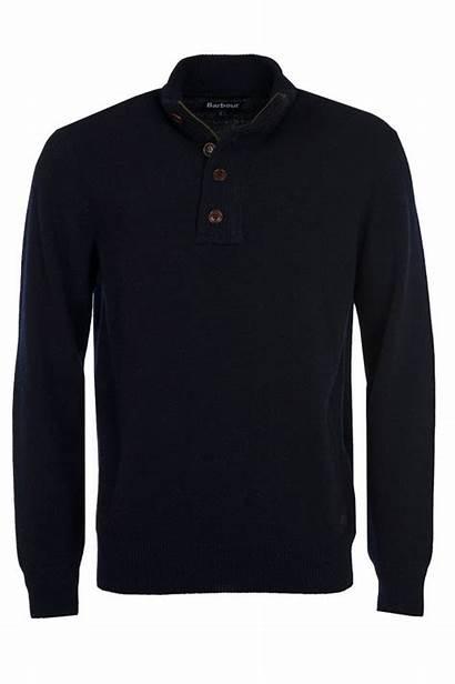 Barbour Patch Zip Half Jumper Navy Knitwear
